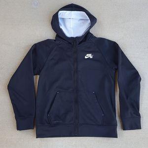 Nike Hoodie Track Jacket black kid's size L